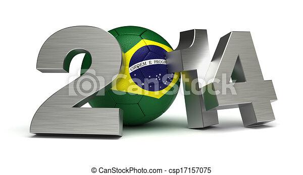 2014, labdarúgás, világbajnokság - csp17157075