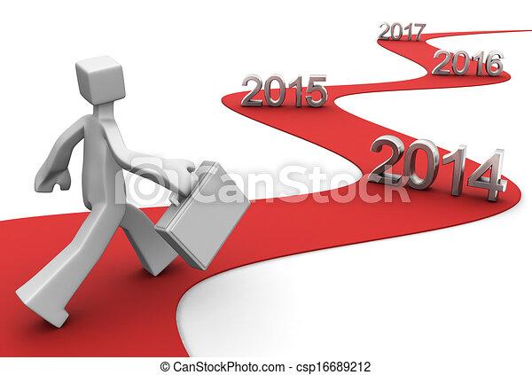 2014, lichtende toekomst, succes - csp16689212