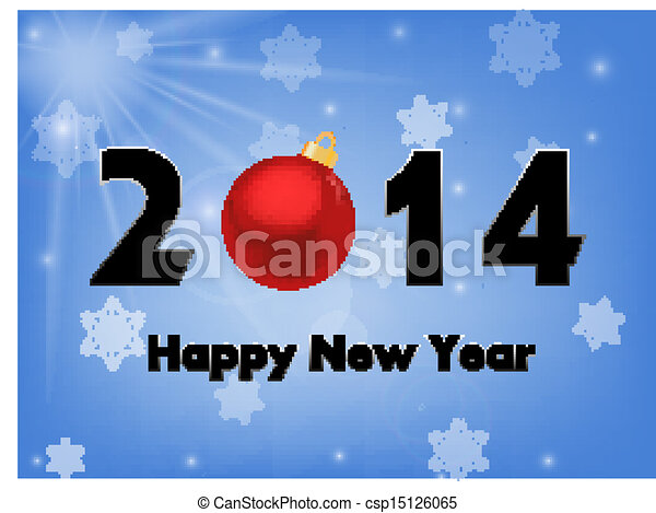 2014 new year background - csp15126065