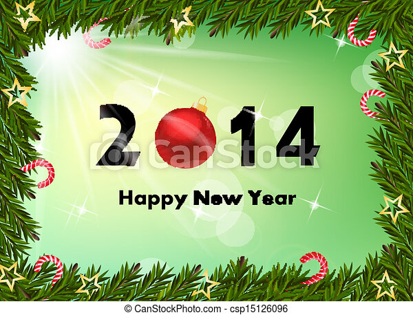 2014 new year background  - csp15126096