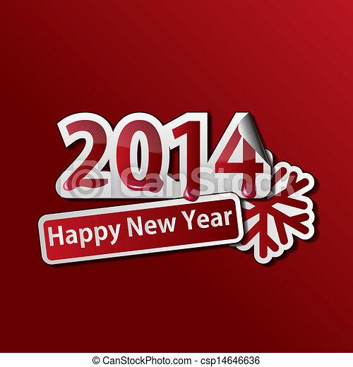 2014 New Year background - csp14646636