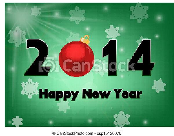 2014 new year background - csp15126070