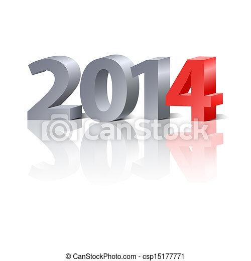 2014 New Year background - csp15177771