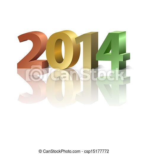 2014 New Year background - csp15177772
