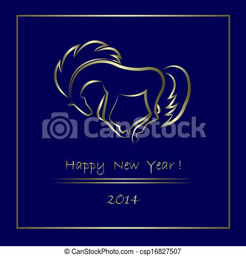 2014 New Year background - csp16827507