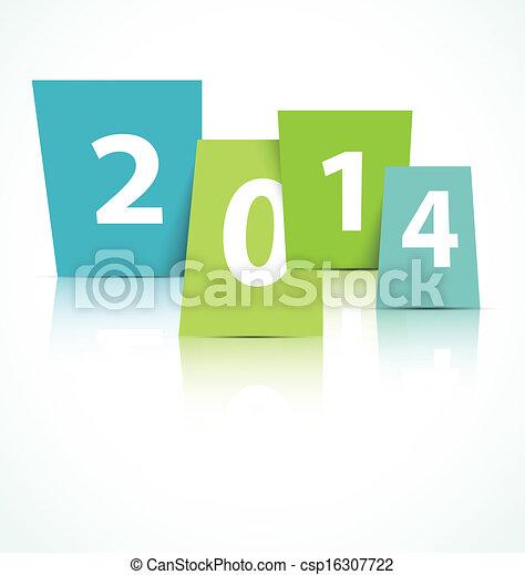 2014 new year card - csp16307722