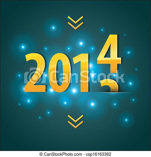2014 New year - csp16163362