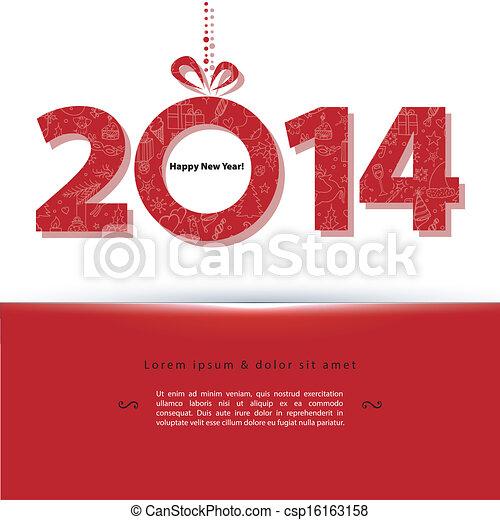 2014 New year - csp16163158