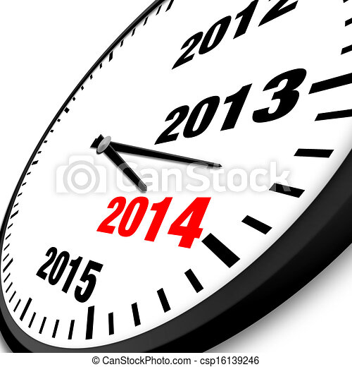 2014 new year clock csp16139246