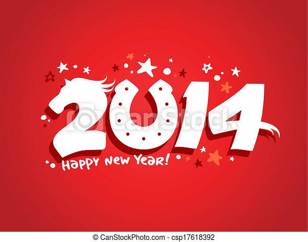 2014 new year design. - csp17618392