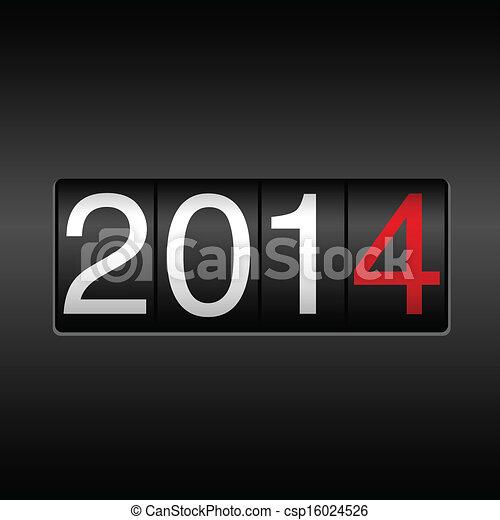 2014 New Year Odometer - csp16024526