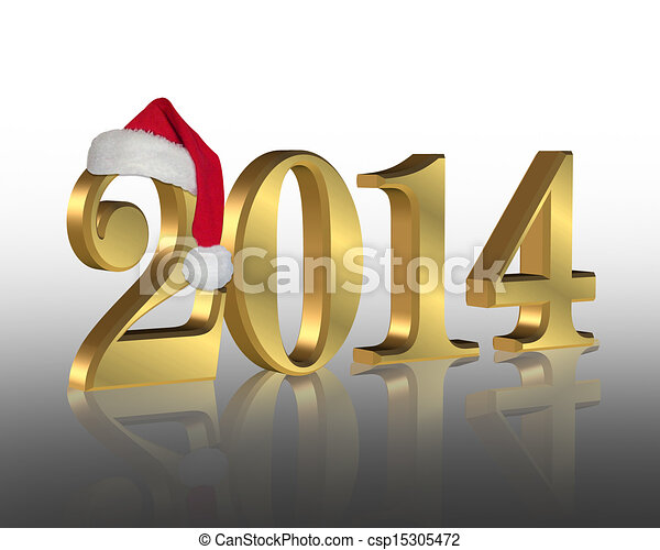 2014 New year santa hat - csp15305472