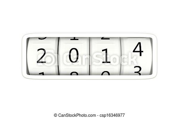2014 New Year symbol - csp16346977