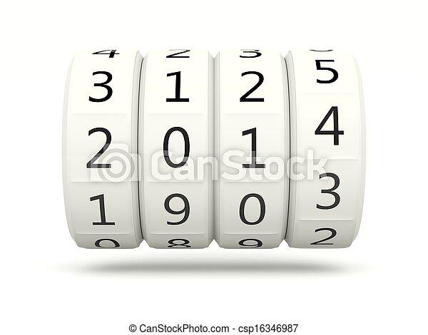 2014 New Year symbol - csp16346987