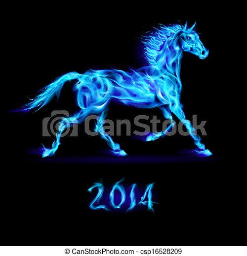 Año nuevo 2014: caballo de fuego. - csp16528209