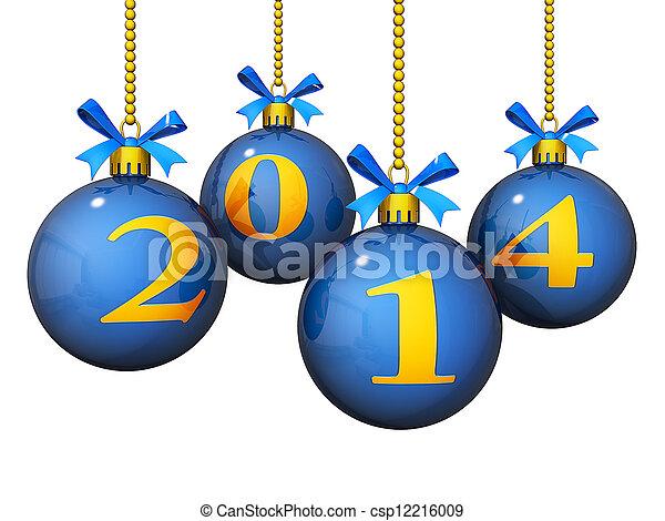 2014 adornos de año nuevo - csp12216009