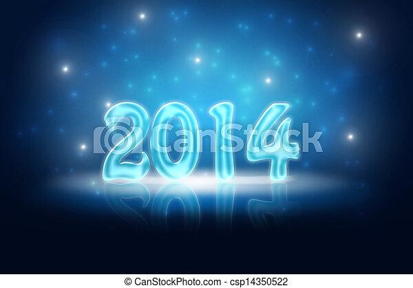 Trasfondo Silvester 2014 - csp14350522