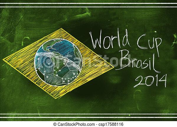 2014, skicc, csésze, brasil, világ - csp17588116