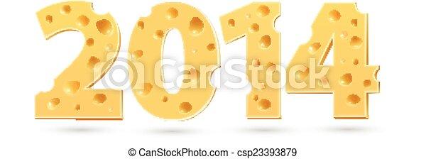 2014, woord, cheese. - csp23393879
