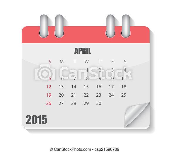 2015, カレンダー, ベクトル, イラスト, 年 - csp21590709