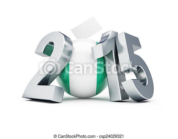 2015, 尼日利亞, 選舉, 一般 - csp24029321