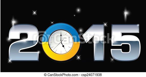 2015, 詞, 插圖, 鐘 - csp24071938
