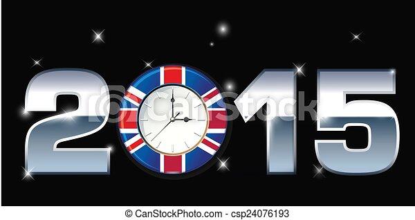 2015, 詞, 插圖, 鐘 - csp24076193