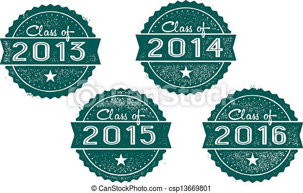 Clase de 2013, 2014, 2015, 2016 - csp13669801