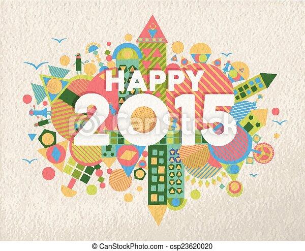 Feliz ilustración de 2015 - csp23620020