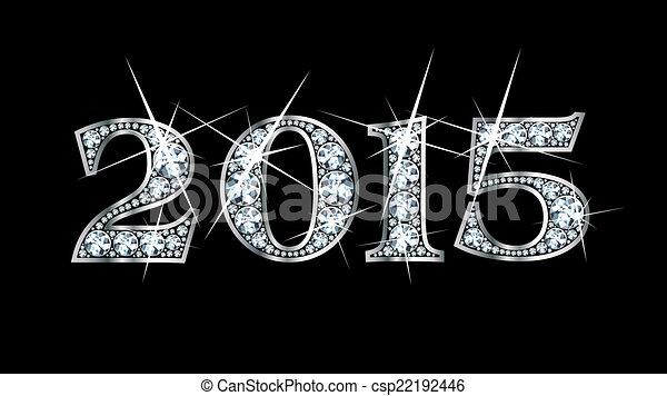 2015, diamante, bling - csp22192446