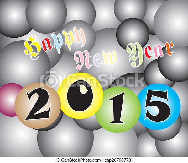 Feliz año nuevo 2015 luz dos tonos - csp20708773