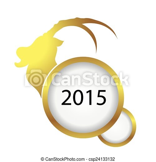 2015 happy new year of the sheep - csp24133132