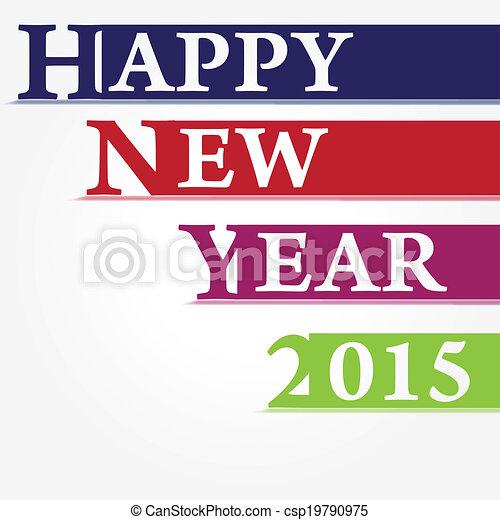 Neujahr 2015 - csp19790975