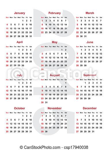 2015, kalender - csp17940038
