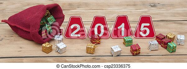 2015, neu , glücklich, jahr - csp23336375