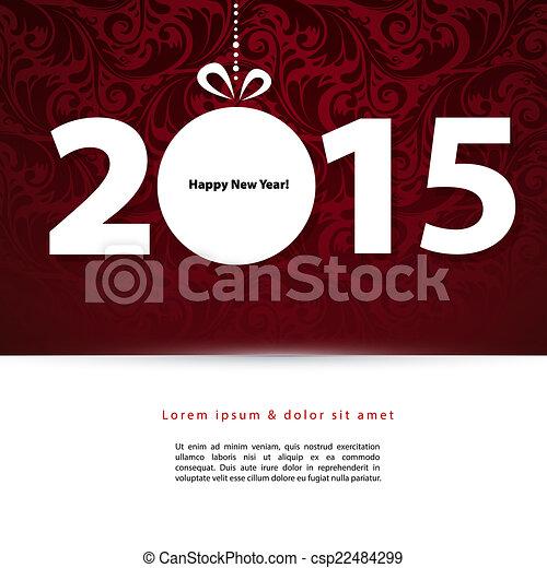 2015 New year - csp22484299