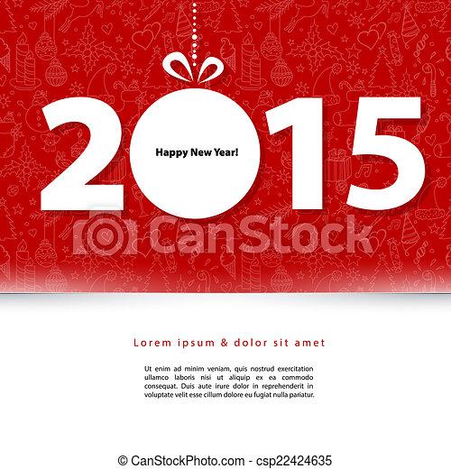 2015 New year - csp22424635