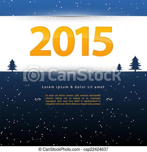 2015 New year - csp22424637