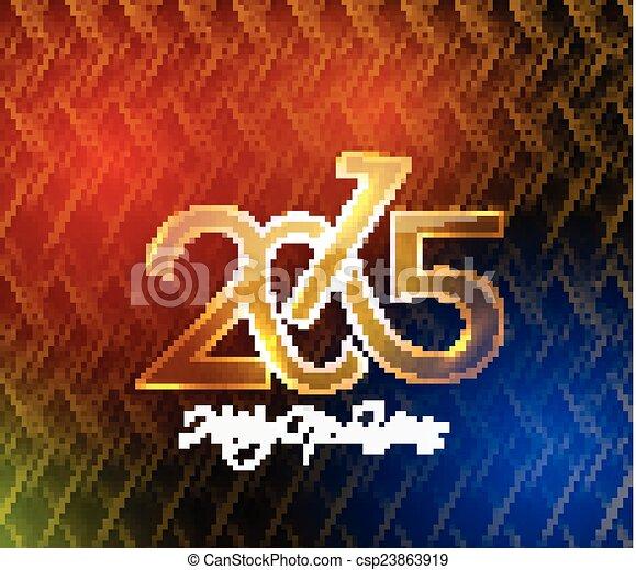 Feliz Año Nuevo 2015 antecedentes - csp23863919