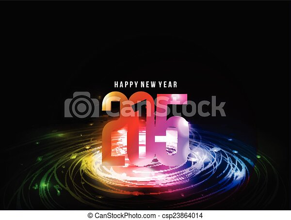 Feliz Año Nuevo 2015 antecedentes - csp23864014