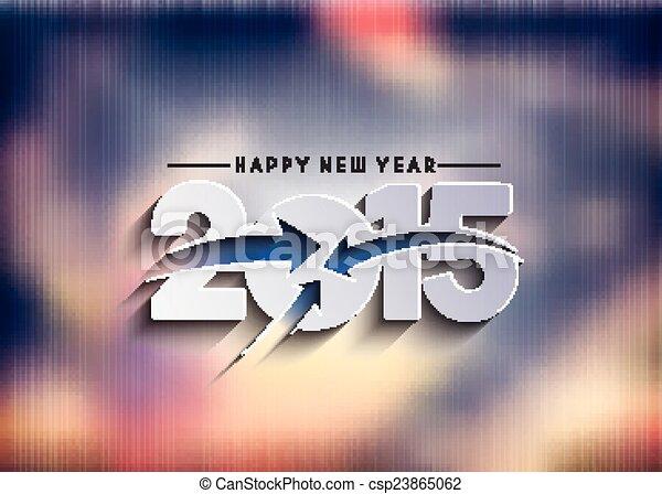Feliz Año Nuevo 2015 antecedentes - csp23865062