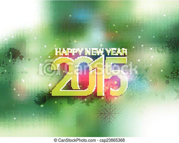 Feliz Año Nuevo 2015 antecedentes - csp23865368