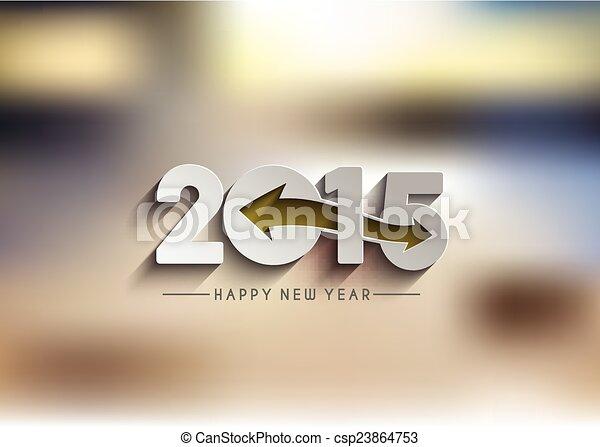 Feliz Año Nuevo 2015 antecedentes - csp23864753