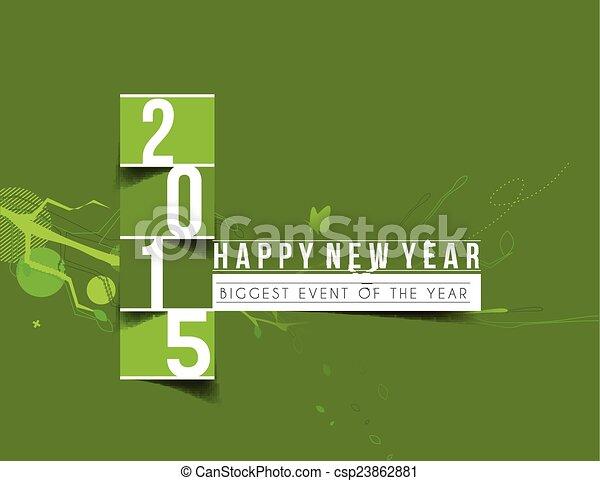 Feliz Año Nuevo 2015 antecedentes - csp23862881