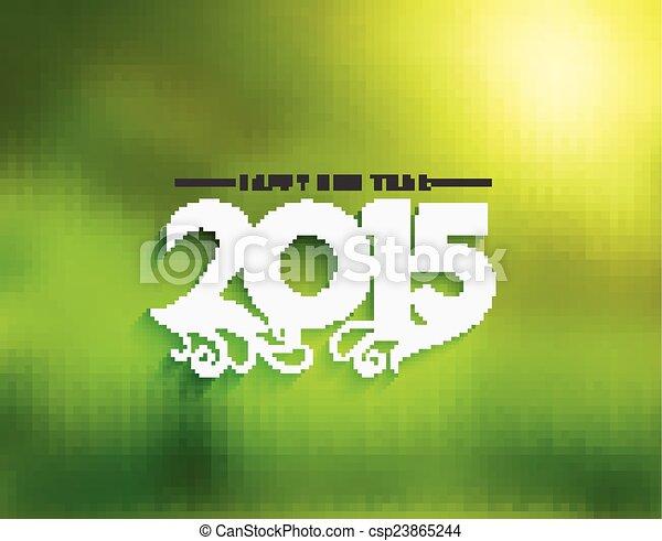 Feliz Año Nuevo 2015 antecedentes - csp23865244