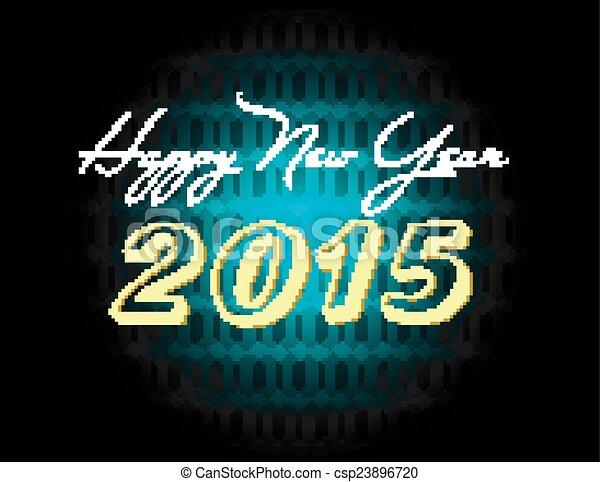 Feliz Año Nuevo 2015 antecedentes - csp23896720