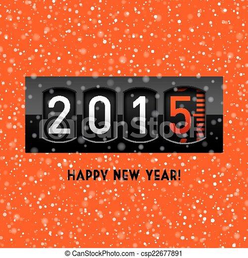 En el mostrador de 2015 de Año Nuevo - csp22677891