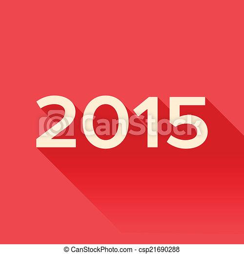 2015, ombre, année, long, signe - csp21690288
