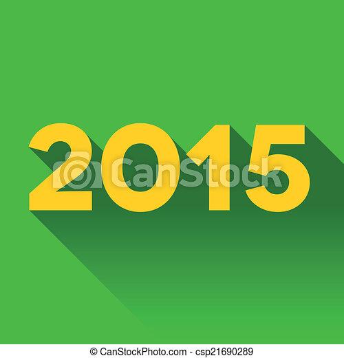 2015, ombre, année, long, signe - csp21690289