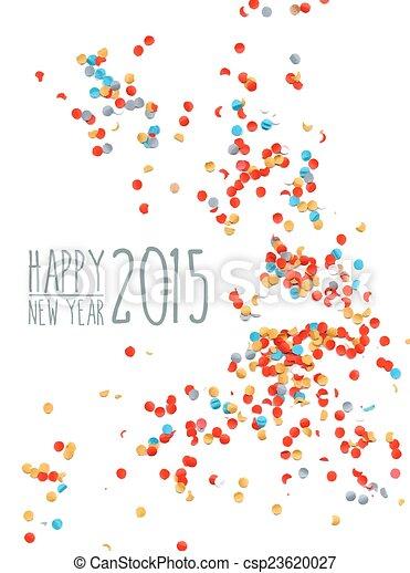 Feliz año nuevo 2015 antecedentes de confeti - csp23620027